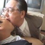 エッチな事が大好きな部長が次長とビジネスホテルで秘密のねっとりホモセックス。